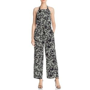 NWT 1. State Sleeveless Halter Neck Print Jumpsuit